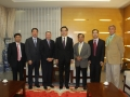 Chinese Ambassador Yang, Suriname DCM Lee, George Dang, Frank Jao, Patrick Cassa