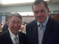 Former Governor of Pennsylvania Tom Ridge with George