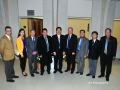 USAsialinks Members Dr. Civan, Chris Zhu, and George with the JiangMen Delegation