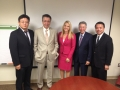 USAsialinks Team with CCTV's Jessica Stone