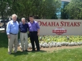 USAsialinks George Dang and Vice-President Renlin Li visits Omaha Steaks Headquarters with Bill Horner