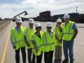 USAsialinks Team, Alan Walker, and Veteran Affairs' Ms. Jackie Touring the CSX Terminal